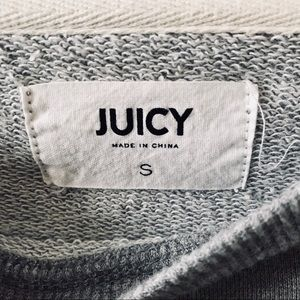 Juicy Couture Tops - Juicy Sweatshirt With Lace/Tie Up Sides